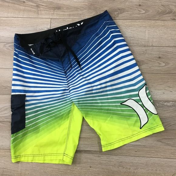646f89297b Hurley Swim | Mens Board Short Size 33 Multi Color Stripe | Poshmark